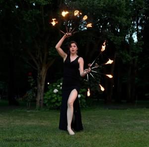 danza con il fuoco